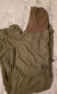 Army Green Motherhood Cargo Pants